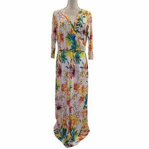Mlle Gabrielle Tropical Floral Maxi Dress XL